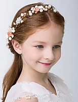 Girl's Headband Faux Pearl Flower Decorative Flower Hair Accessory