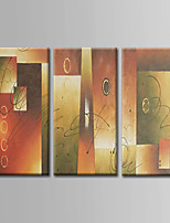 Hand-Painted  Abstract Oil Painting Set of 3 With Stretcher For Home Decoration Ready to Hang