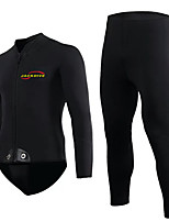 Men's 3mm Full Wetsuit Quick Dry Sports Terylene Diving Suit Long Sleeve Diving Suits-Diving & Snorkeling All Seasons Solid