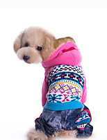 Dog Hoodie Dog Clothes Casual/Daily Geometric Blue Blushing Pink