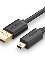 UGREEN USB 2.0 Кабель, USB 2.0 to Mini USB Кабель Male - Male 0.25m (0.8Ft)