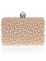 L.WEST Women's fashion handmade pearl bag dinner package Bag