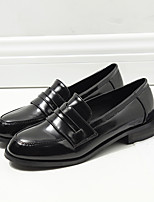 Women's Loafers & Slip-Ons Comfort PU Spring Casual Comfort Brown Black Flat