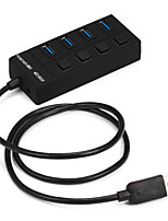 4 ports usb 3.0 super speed hub 5gdps com interruptor