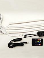 1set 18 * 5050smd третьего поколения звук автомобиля и пульт дистанционного управления RGB лампа