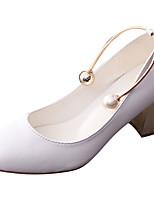 Da donna Sandali Comoda Gomma Estate Footing Comoda Fibbia Heel di blocco Bianco Nero Meno di 2,5 cm
