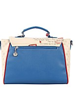 Women Tote Other Leather Type All Seasons Casual Outdoor Round Zipper Blue