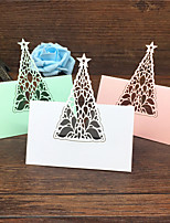 40pcs Birthday Christmas Tree Laser Cut Baby Shower Party Table Name Place Cards Wedding Invitations Table Name Card Party
