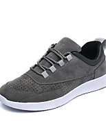 Men's Sneakers Comfort Spring Summer Fall Winter Synthetic Casual Outdoor Lace-up Flat Heel Black Gray Flat