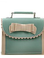 Women Shoulder Bag PU All Seasons Casual Outdoor Square Magnetic Brown Black Green