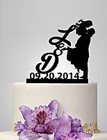 Украшения для торта Классическая пара Свадьба Классика Люди Романтика Свадьба Полиэтиленовый пакет