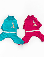 Dog Clothes/Jumpsuit Dog Clothes Casual/Daily Solid Fuchsia Green
