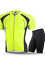Cycling Jersey with Shorts Unisex Adults' Short Sleeve Bike Clothing SuitsCycling Fitness, Running & Yoga Anti-slip Strap Breathable