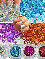 0.2g/bottle Nail Salon DIY Beauty Horse Eye Leaf Paillette Thin Sequin Fashion Gorgeous Nail Art Glitter DIY Graceful Shining Sequin Decoration MB1-12