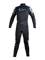 Men's 5mm Full Wetsuit Sports Chinlon Diving Suit Long Sleeve Diving Suits-Diving & Snorkeling All Seasons Solid