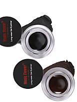 Lápices de Ojos Húmedo Secado rápido Larga Duración Impermeable Ojos 2 in 1 Brown + Black