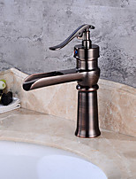 Oil-rubbed Bronze Tall Single Handle Lever Bathroom Sink Vessel Faucet