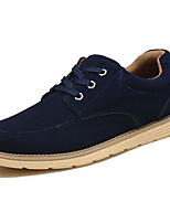 Men's Sneakers Comfort Spring Fall Suede Casual Brown Navy Blue Earth Yellow Khaki Flat