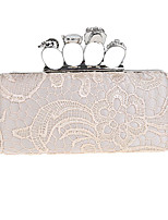 Women Evening Bag Polyester All Seasons Wedding Event/Party Formal Minaudiere Rhinestone Lace Clasp LockAmethyst Pinky Coffee Fuchsia