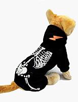 Dog Clothes/Jumpsuit Dog Clothes Halloween Skulls Black Red