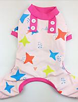 Dog Pajamas Dog Clothes Casual/Daily Stars Green Blue Blushing Pink