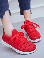 Women's Shoes Breathable Mesh PU Spring Comfort Sneakers For Casual Black Red Light Blue