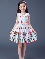 Vestido Chica de Floral Sin Mangas