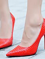 Femme Chaussures à Talons A Bride Arrière Polyuréthane Printemps Décontracté A Bride Arrière Blanc Noir Rouge Amande 10 à 12 cm