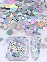 Holographic Silver Mermaid Nail Art Sequins Flakes Semi-transparent Paillettes
