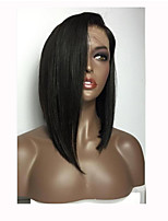 Hot Selling Wig Straight Hair Wigs Brazilian Virgin Hair Wigs Bleach Knots Glueless Lace Front Wigs Side Parting Human Lace Front  Wig For Black Women