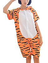 Kigurumi Pajamas Tiger Leotard/Onesie Festival/Holiday Animal Sleepwear Halloween Patchwork Cotton Kigurumi For Unisex Carnival