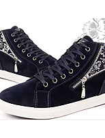 Men's Sneakers Comfort Spring Fall Canvas PU Casual Black Blue Flat