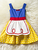 Girl's Fashion Polka dots Dress,Cotton Polester/Cotton Blend Summer Sleeveless