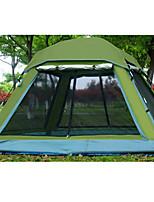 2 personnes Tente Unique Tente pliable Une pièce Tente de camping 1500-2000 mmToile Cuir PU/Cuir polyuréthane Térylène Polyester / Coton