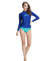 New Korean Diving Suit Female Outdoor Water Slide Split long - Sleeved Diving Suit Women 's Surfing Suits Sunscreen 916