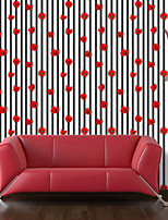פסים פרחוני ארט דקו טפט עבור בית מודרני / חדיש וול כיסוי , PVC/Vinyl חוֹמֶר דבק טפט , Wallcovering חדר