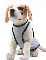 Cachorro Macacão Roupas para Cães Casual Sólido Cinzento Azul Rosa claro
