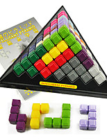 Building Blocks Stacking Games For Gift  Building Blocks Triangle Plastics 6 Years Old and Above Toys