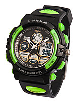 Men's Sport Watch Digital Rubber Band Black Green