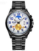 Men's Dress Watch Fashion Watch Quartz Stainless Steel Band Black