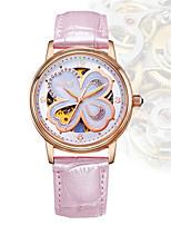 Жен. Модные часы Механические часы С автоподзаводом Защита от влаги PU Группа Черный Белый Красный Коричневый Розовый Фиолетовый