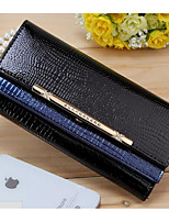 Women Checkbook Wallet PU All Seasons Casual Rectangle Toggle Clasp Black