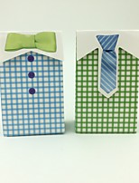 50psc Bride And Groom Bow Tie And Necktie Wedding Favors Box Candy Box Gift Box Wedding Decoration Party Supplies