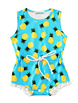 Baby Print One-Pieces Cotton Blends Summer Sleeveless Pineapple Baby Girls Romper Kids Clothing