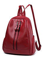 IMBETTUY Women's Fashion Splicing Zipper PU Leather Backpack