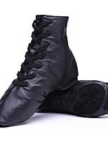 Women's Modern Cowhide Flats Sneakers Practice Black