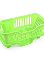 Freezer Kitchen Shelf Kitchenware Storage Shelf Plastic Leak Water Rack Tableware