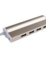 Cqt-h309 hub usb 3.0 5gbps super-vitesse 4 ports avec câble de 0.15m