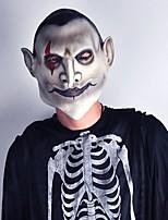 ホラー悪魔ラテックス恐ろしいマスク伯爵地獄の顔吸血鬼血の髪ハロウィーン仮装マスカラ恐怖コスプレパーティー小道具