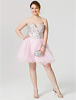 A-Line Sweetheart Short / Mini Organza Cocktail Party Dress with Beading